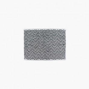 Linen and Moore Herringbone Black/White Towels
