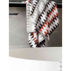 LM Home Herringbone Terracotta Towel