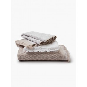 Linen and Moore White Glacier Towels