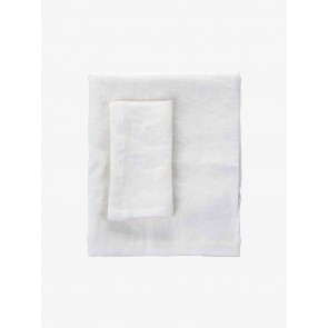 LM Home Moss White Table Cloth