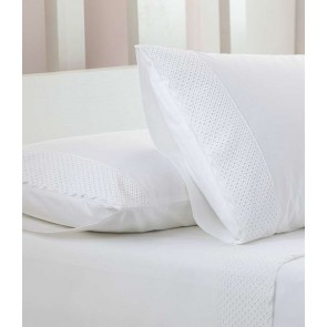 MM Linen Lucia White Sheet Set