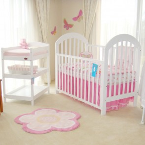 Babyhood Luna V2 4 In 1 Cot White