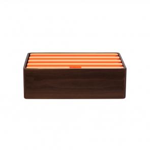 Medium Walnut & Orange (S&D)
