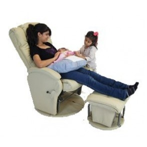 Babyhood Manhattan Glider Feeding Chair & Ottoman