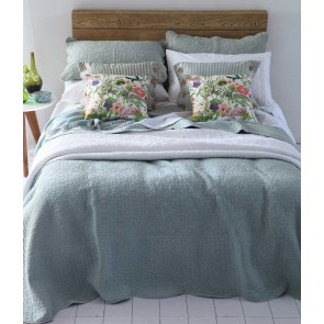MM Linen Melia Seafoam Queen Bedspread Set