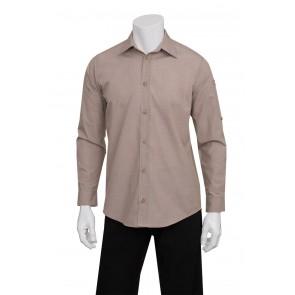 Mens Chambray Ecru Shirt