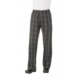 Black Plaid Better Built Baggy Chef Pants by Chef Works