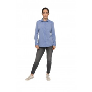 Modern Chambray Womens Blue Dress Shirt