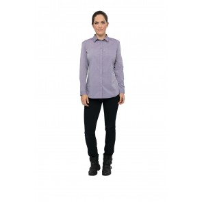 Modern Chambray Womens Purple Dress Shirt