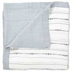 Aden and Anais Moonlight Bead Solid Grey Bamboo Dream Blanket