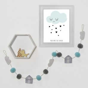 My City Pompom Garland by Lolli Living