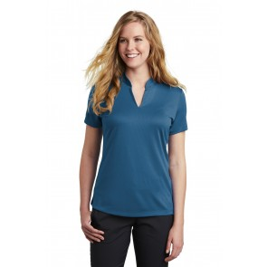 Nike Golf Ladies Dri-FIT Hex Textured V-Neck Top