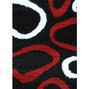 Notes 2 Black and Red Rug by Rug Culture