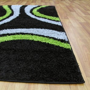Notes 3 Black and Green Rug by Rug Culture