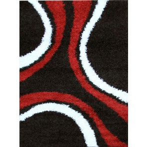 Notes 3 Black and Red Rug by Rug Culture