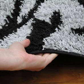 Notes 5 Black and Grey Rug by Rug Culture
