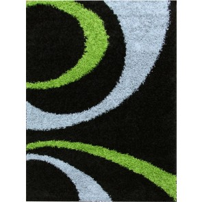 Notes 7 Black and Green Rug by Rug Culture