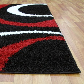 Notes 7 Black and Red Rug by Rug Culture