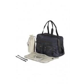 OiOi Carry All Black Protea Nappy Bag