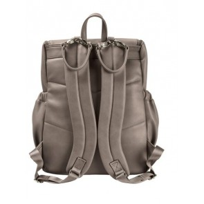 OiOi Faux Leather Nappy Backpack Taupe