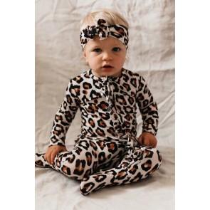 OiOi Top Knot Headband Natural Leopard