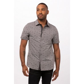 Omaha Grey Shirt by Chef Works