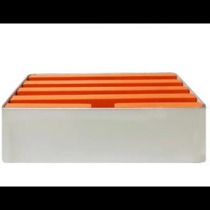Medium Silver & Orange