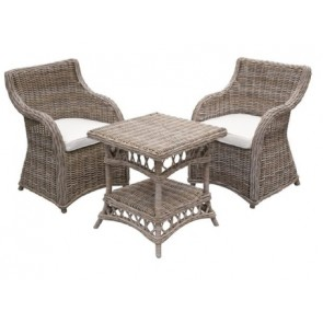Roma Rattan 3-Piece Outdoor Setting
