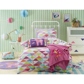 Jiggle & Giggle Peacock Princess Single Quilt Cover Set