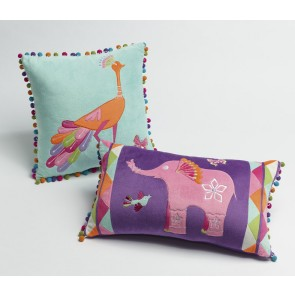 Jiggle & Giggle Peacock Princess Square Cushion