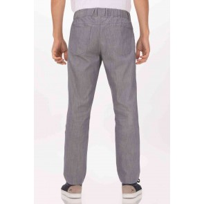 Vertical Steel Blue Stripe Chef Pants by Chef Works