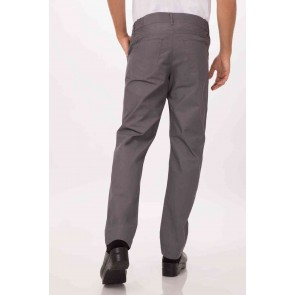 Professional Steel Blue Mens Lite' Chef Pants by Chef Works