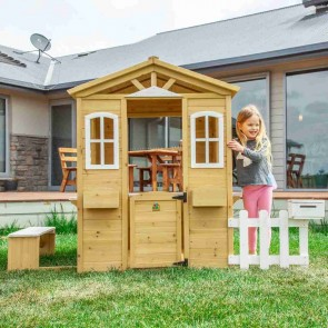 Lifespan Kids Teddy Cubby House in Natural Timber