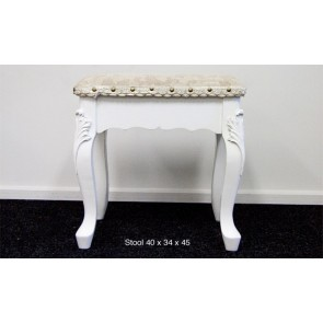 Living Good Plain Stool in White