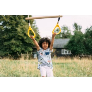 Plum Premium Triple Frame Swing Set with Glider, Trapeze and Single Swing