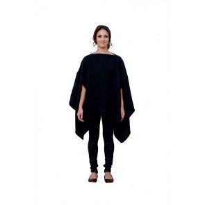 Black Audrey Poncho by St Albans