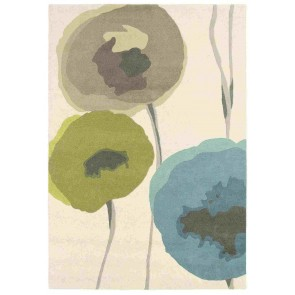 Poppies Teal Olv