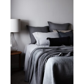 Aspen Quilted Standard Pillowcases by Linen and Moore