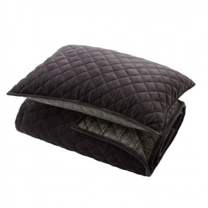 Linen and Moore Como Graphite Single/Double Quilt