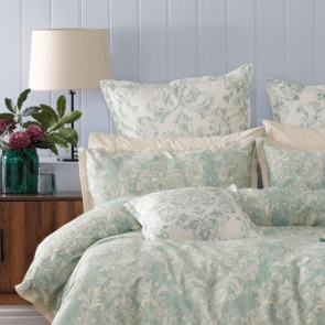 Bianca Aria Quilt Cover Set Green