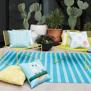 Rapee Riviera Stripe Outdoor Breakfast Cushion