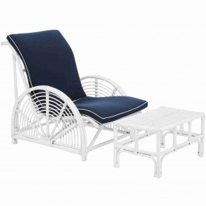 Havana Rattan Armchair & Footrest Set by Alexander Santorini
