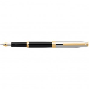 Sheaffer Sagaris® Black Barrel and Chrome Cap Fountain Pen [Fine Nib]