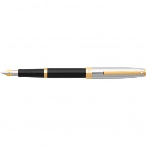 Sheaffer Sagaris Black/Chrome/Gold Tone Trim Fountain Pen [Medium Nib]