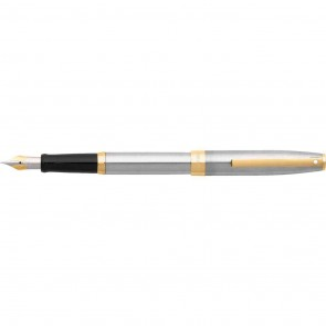 Sheaffer Sagaris Brushed Chrome/Chrome Plated Fountain Pen [Medium Nib]