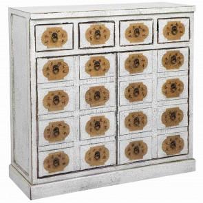 Saigon White Wooden Console