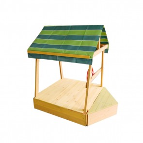 Kids Explorer Sandpit with Wooden Cover