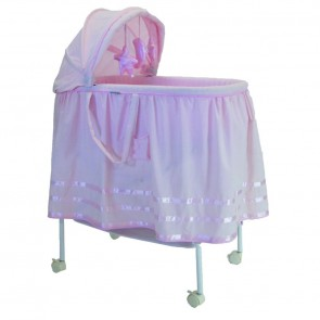 Babyhood Satin Ribbon Bassinet