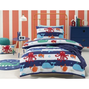 Jiggle & Giggle Sea Creatures Single Quilt Cover Set