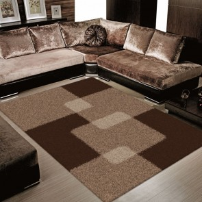 Arte Supreme Shaggy Brown Rug by Saray Rugs